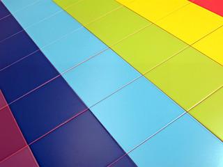 colorful tiled rectangles ceramic, tile construction concept