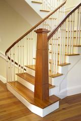 Hardwood Treads on Stairway