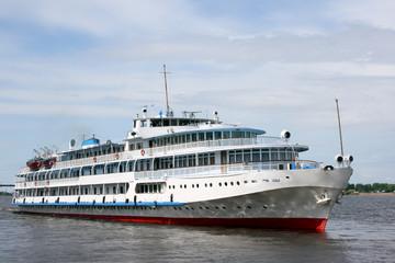 The white steamship