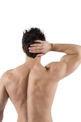 Ragazzo muscoloso di schiena