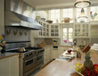 Traditional Kitchen with Tiled Backsplash