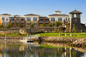 Housing Community on Lake