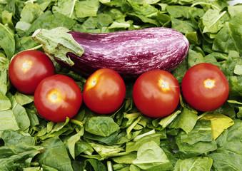 tomates y acelgas