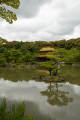 Kinkakuji Temple(Golden Pavilion) at Kyoto. Japan.