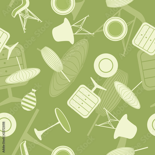 Abstract seamless furniture pattern