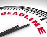 Deadline - Word on Clock poster