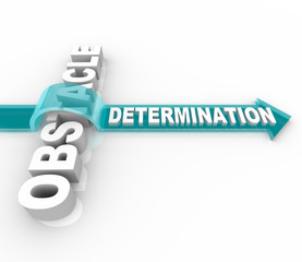 Determination Overcomes an Obstacle