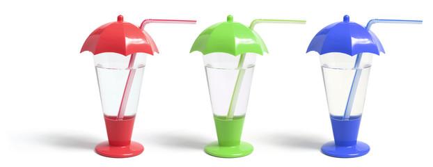 Plastic Straw Cups