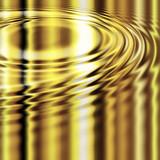 molten gold ripples poster
