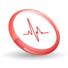 Cardiogram. Vector icon.