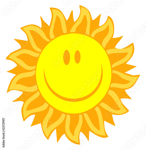 Cartoon Illustrations Of Smiling Sun
