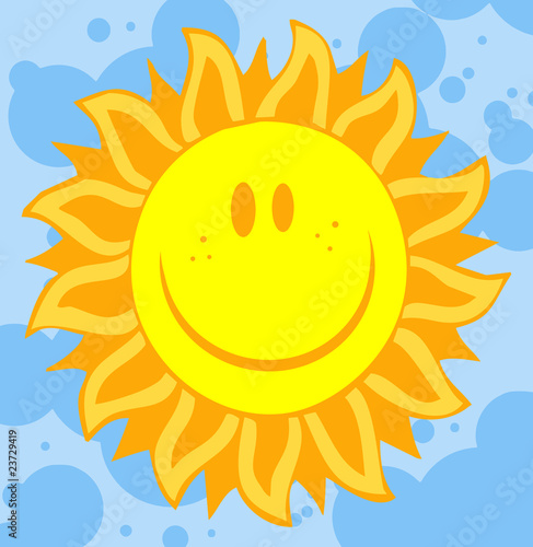 llustrations Of Smiling Sun