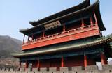 ancient pagoda on Great Wall(China) poster