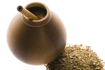 argentinian calabash with yerba mate