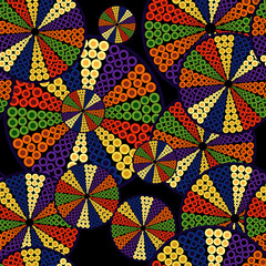Pattern from decorative circles