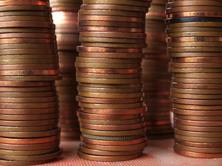 Copper coin columns