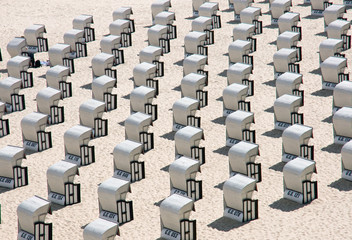Beach chairs at the Baltic Sea, Germany