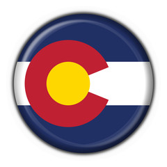 Colorado (USA State) button flag round shape