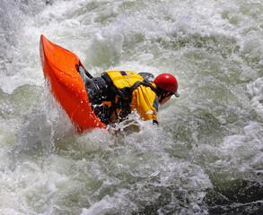 Kayak on Whitewater Rapids