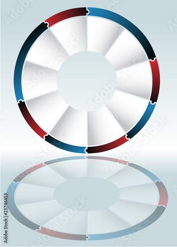Puzzle Wheel Diagram