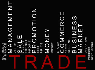 red trade text barcode, vector