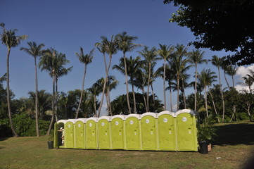 portable toilet in the parks