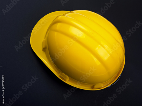 Hardhat on black background