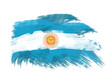 argentina flag in brush strokes