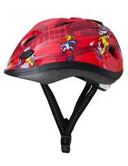 Red-black helmet for children