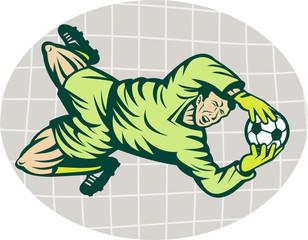 soccer goalie goalkeeper saving goal