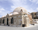 The Janissaries' Mosque, beside the harbor in Hania, Crete