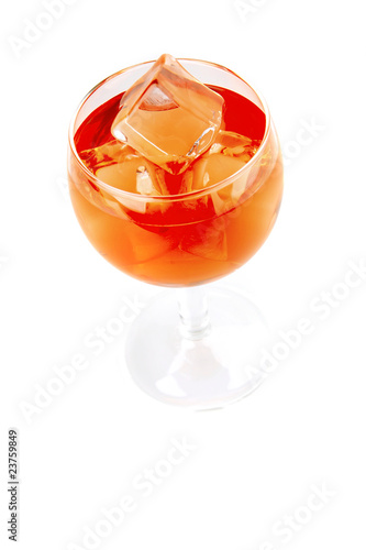 red light wine goblet