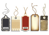 Fototapety Cardboard Sales Tags