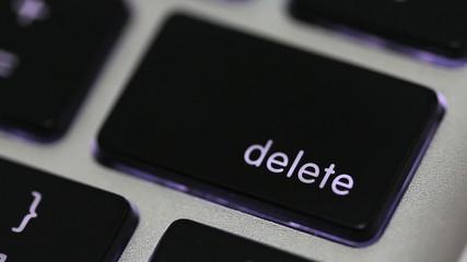 pushing delete key