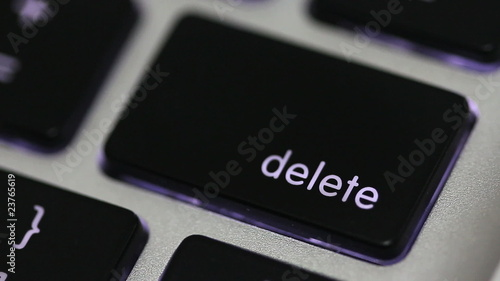 pushing delete key