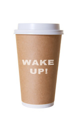 Wake Up Coffee To Go Cup