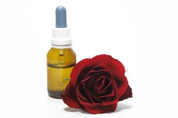 rose mit tropfflasche