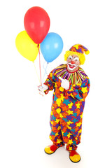Cheerful Clown and Balloons