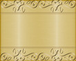 brushed gold background with swirls