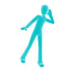 blue person eavesdrop