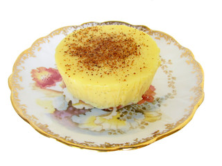 cream brulee with spiced topping