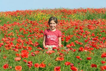 sourir et fleurs