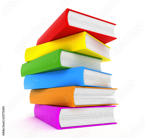 Books rainbow over white - 23775693