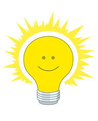 Bright electric bulb