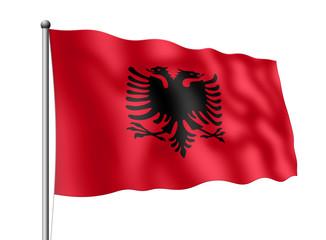 Albanien-Flagge