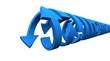 3D - Pfeil Rotation blau - freigestellt