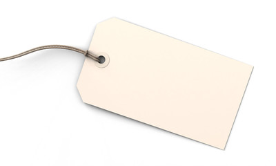 Blank tag on white
