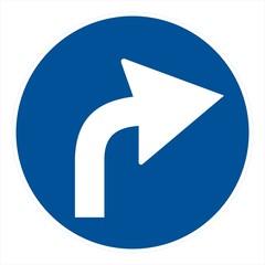 Obligation road sign