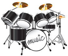 illustration drum set