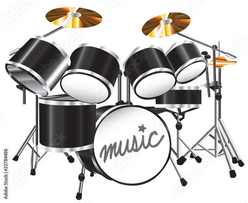 illustration drum set - 23784488